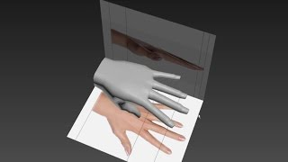 Autodesk 3ds Max 3D modeling tutorial for the human hand