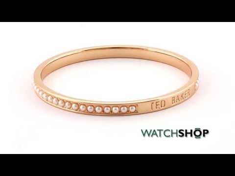 c8e0329d598b3 Ted Baker Jewellery Ladies' Rose Gold Plated Clem Narrow Crystal ...
