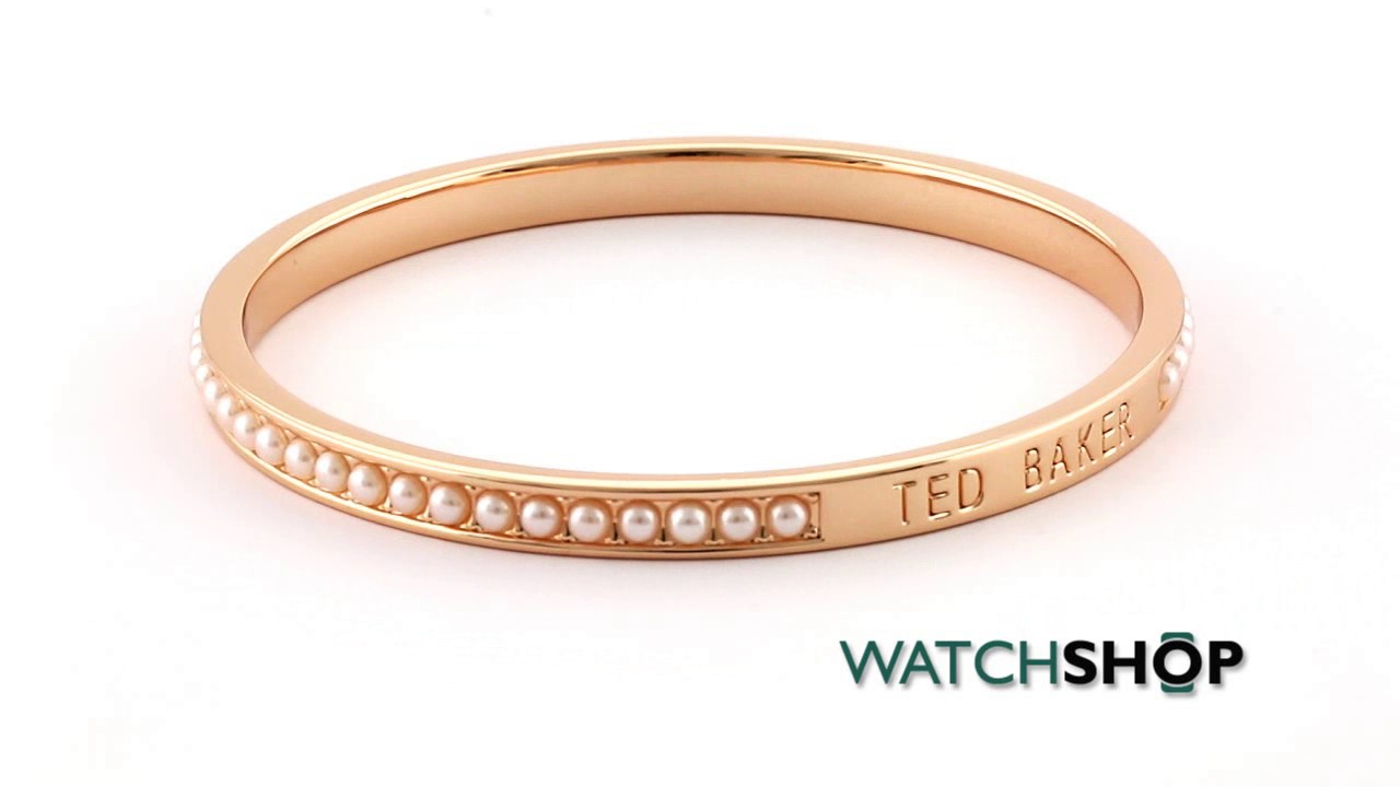 436bb68fcb9d1 Ted Baker Jewellery Ladies' Rose Gold Plated Clem Narrow Crystal Band  Bangle (TBJ1050-24-28)