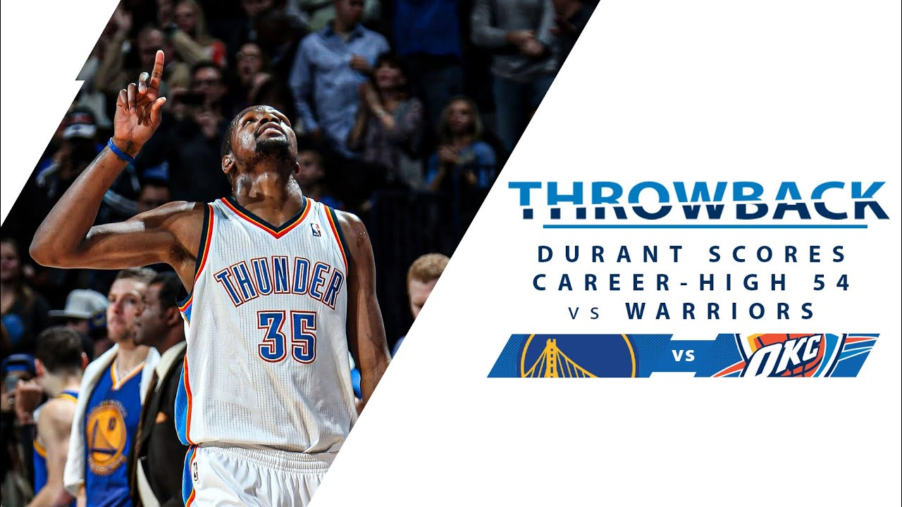 Download Kevin Durant Scores Career-High 54 PTS vs Warriors | Full Classic Game - 1.17.14