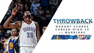 Kevin Durant Scores Career-High 54 PTS vs Warriors | Full Classic Game - 1.17.14