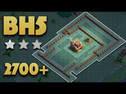 Best Builder Hall 5 Base (BH5) Pushing 2700+ | Builder Base 5 No Battle Machine | clash of clans