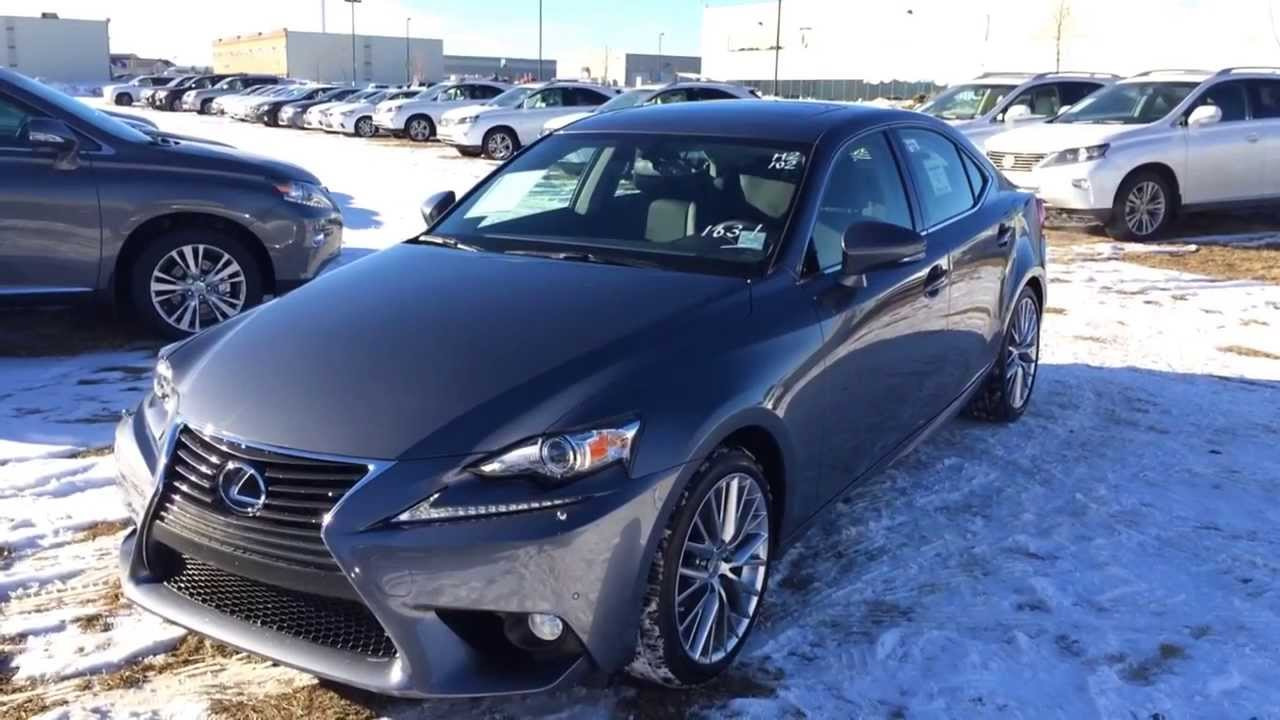 2014 lexus is 250 awd nebula grey pearl luxury package review - youtube