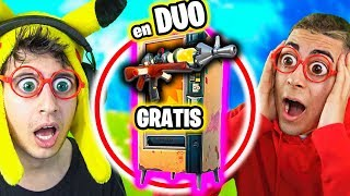 ONLY LOOT OF VISPUT MACHINES **FREE** in DUO Challenge Fortnite Battle Royale! Eating FREE