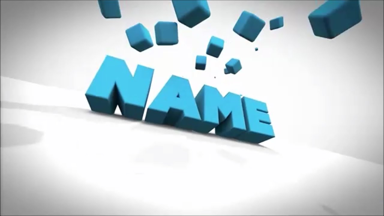 blender 3d intro template FREE Clean 3D TEXT Blender Intro Template #626   Tutorial - YouTube