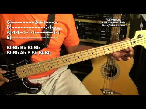 How To Play DOWNTOWN Macklemore & Ryan Lewis On Bass Guitar EricBlackmonMusicHD
