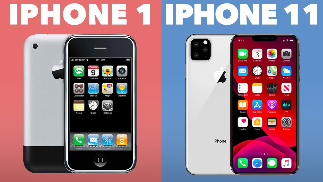 Evolution Of The Iphone Iphone 1 Iphone Xi