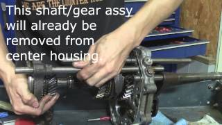 86 93 mazda b series pickup manual transmission internal disassembly