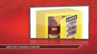 Керівництво По Експлуатації 1 Двері Шафи 12 Гал - Justrite Огляд Продукту Відео