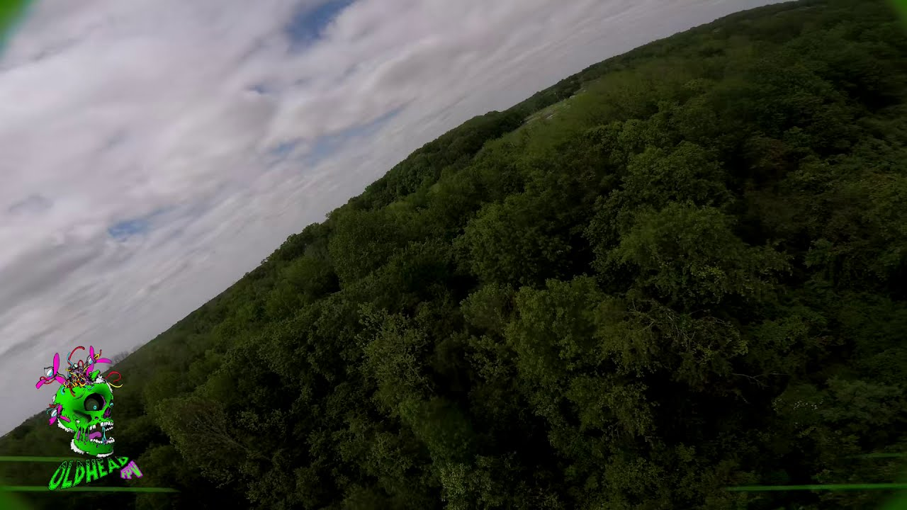 Freestyle drone flight through the woods фото