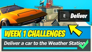 Deliver a Car to The Weather Station Location (Fortnite Season 8 Week 1 Quests)