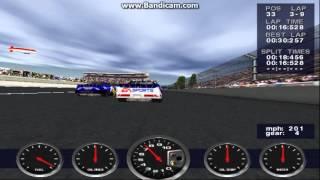 NASCAR Revolution PC Race #18 Gameplay (Mark Martin) (Atlanta) (9 Laps)