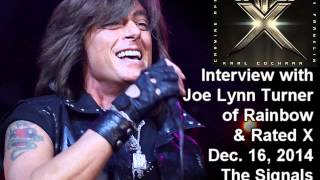 Joe Lynn Turner (Rainbow, Yngwie, Rated X) 2014 Interview on the Signals of Intuition