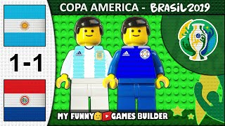 Argentina vs Paraguay 1-1 • Copa America 2019 Brasil (19/06/2019) All Goals Highlights Lego Football