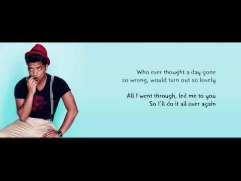 Bruno Mars - Again Karaoke  (with lyrics)