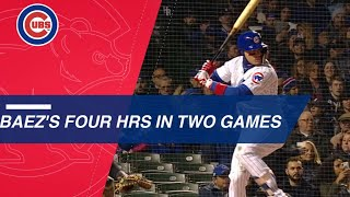 Baez belts 4 home runs over 2 games