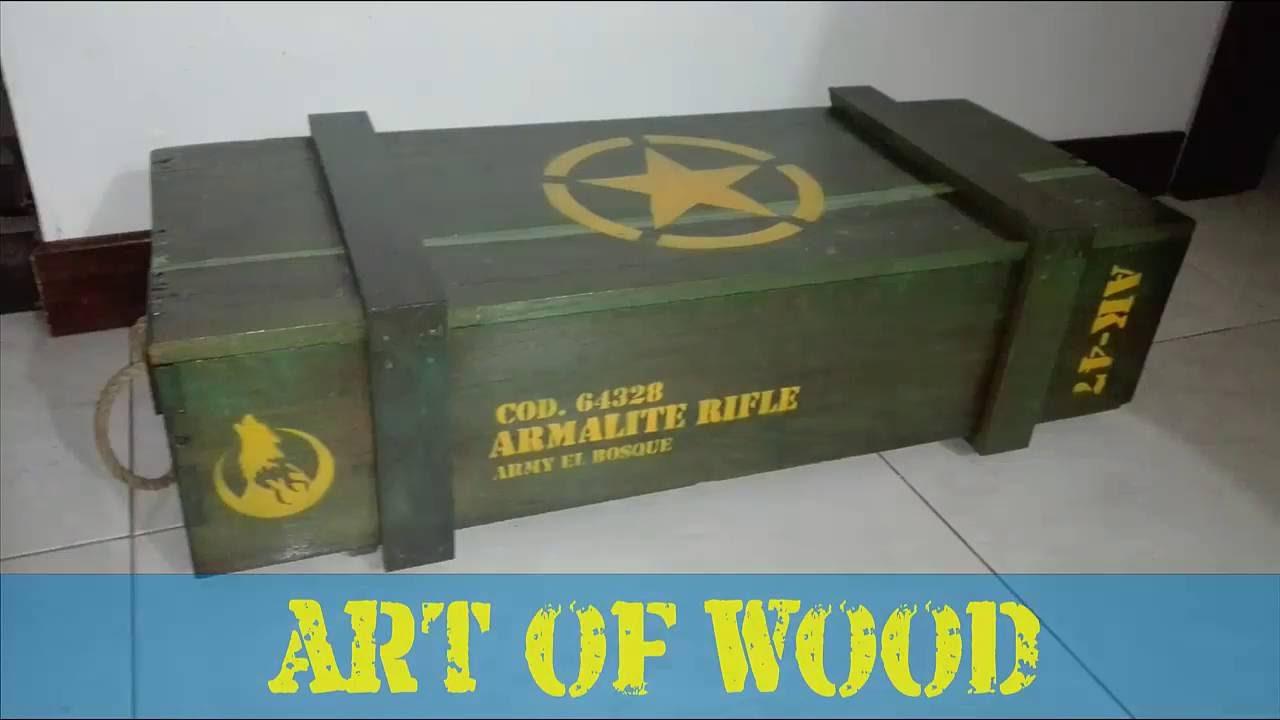 Como hacer ba l militar en madera youtube - Como hacer un baul para guardar juguetes ...