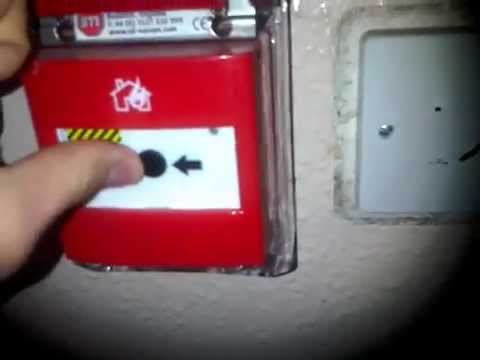 Setting of the fire alarm in school
