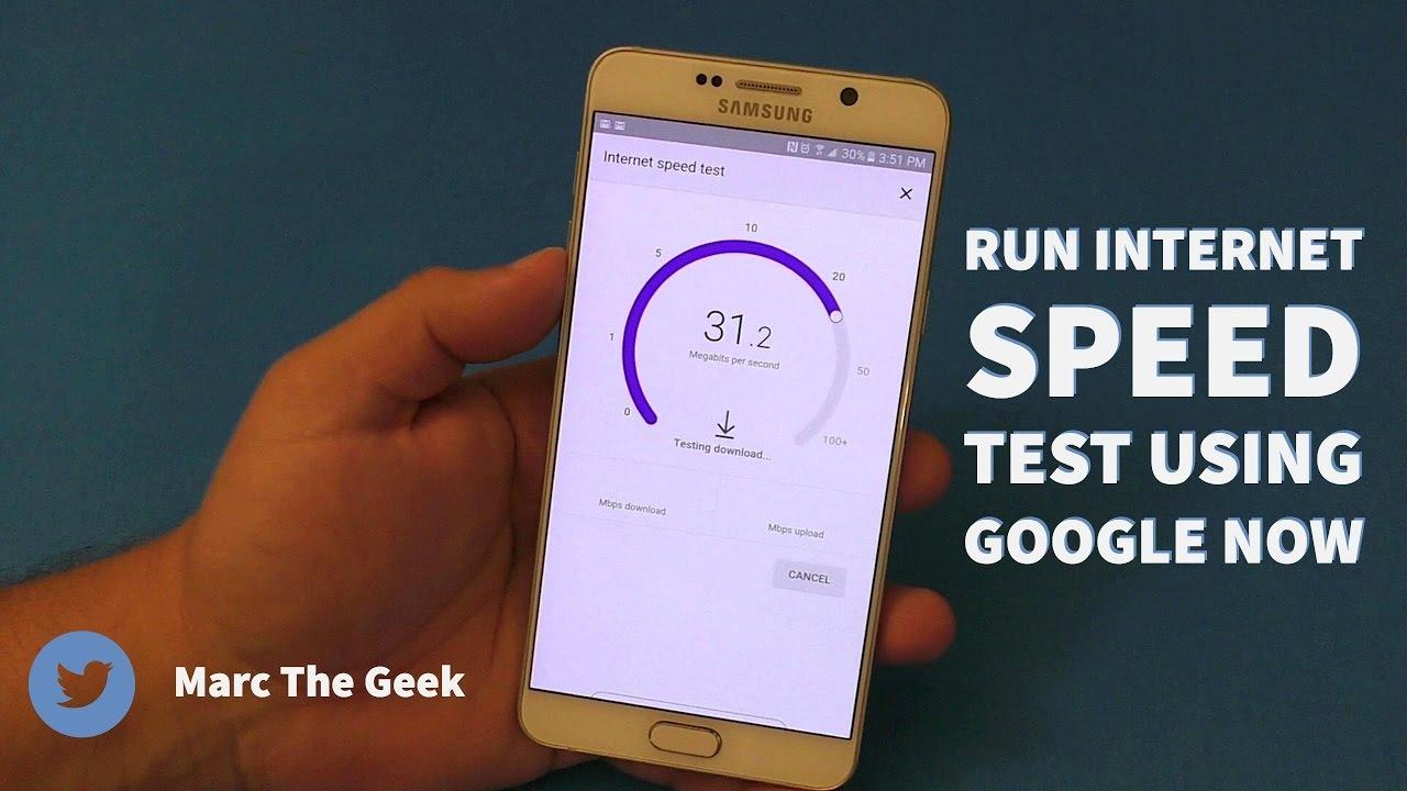 Run Internet Speed Test Using Google Now - YouTube