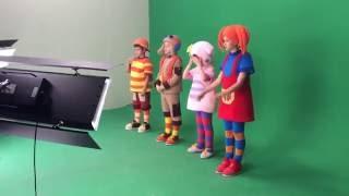 кукутики на съемке песни Машинки с мигалками - 8 июля 2016
