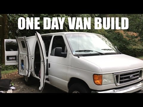 HOW TO BUILD A STEALTH VAN IN ONE DAY | Van Life Canada