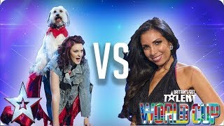 Ashleigh & Pudsey vs Francine Lewis | Britain's Got Talent World Cup 2018