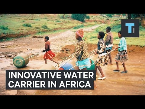 Innovative water carrier in Africa