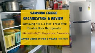 Review amp Organization of Samsung 415 L 3 Star Double Door Refrigerator After using it for 2 years