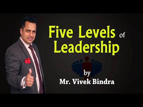 Five levels of Leadership by International Motivational Speaker Mr Vivek Bindra