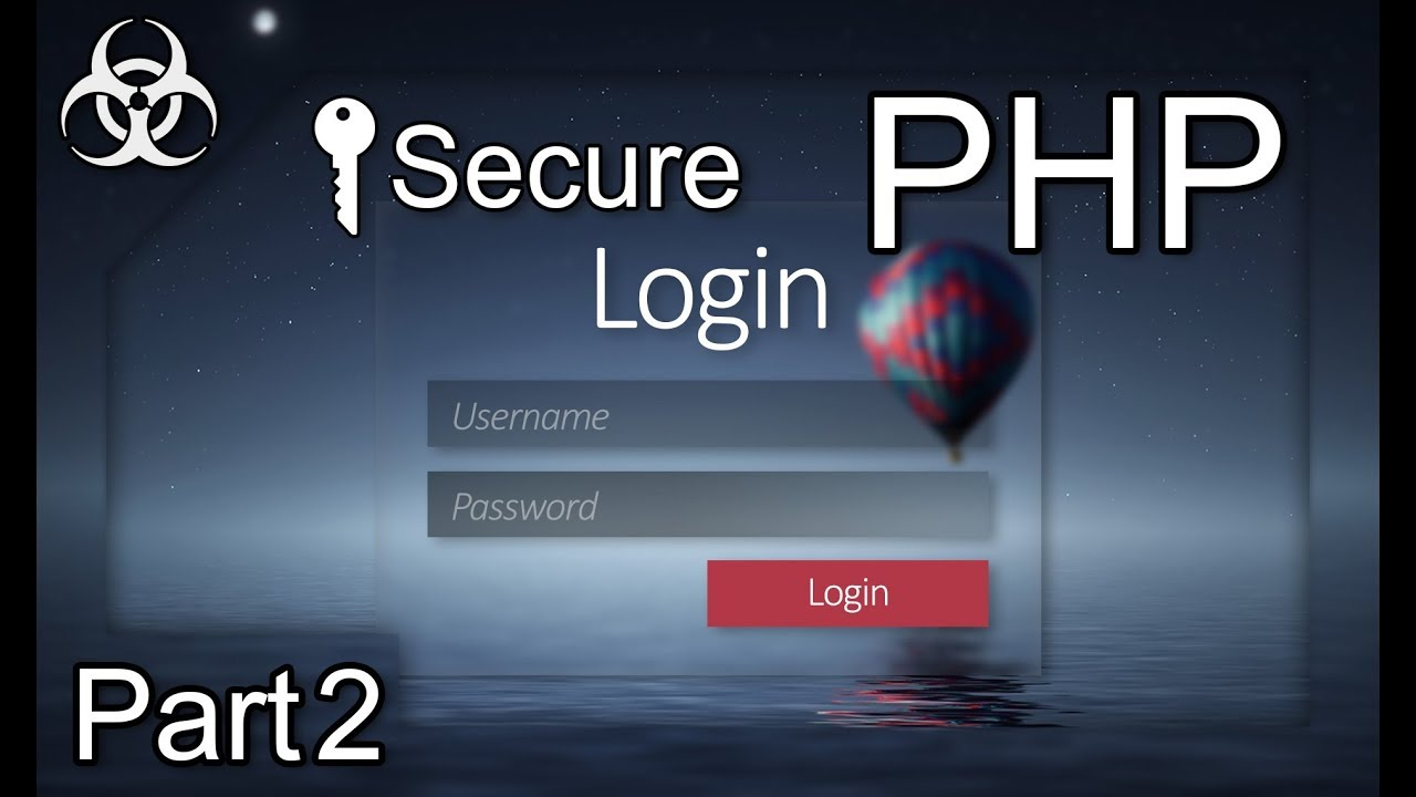 Secure Login Form Authentication System (Cookies, Sessions, Token, PDO) PHP & MySQL Tutorial Par