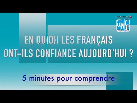 """5 minutes pour comprendre : """"En qu(o)i les Français ont-ils confiance aujourd'hui ?"""""""