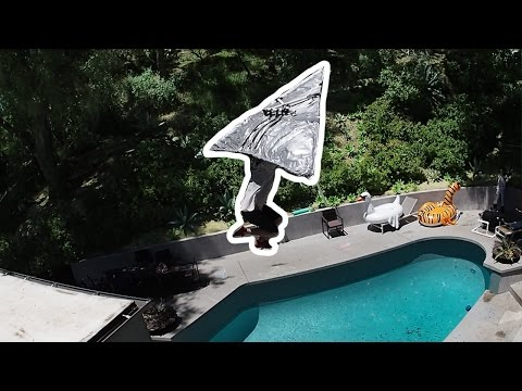 Duct Tape Hang Glider Off My Roof!