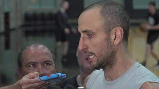 Manu Ginobili interview before Game 3 against the Warriors