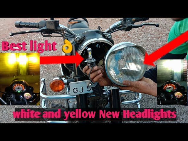 How to install New Best LED Light for Royal Enfield or any Bike /Unboxihg /Modification Bullets