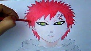 Como Desenhar Gaara (Naruto Shippuden) #2