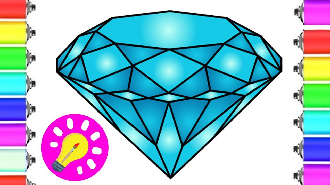 How To Draw A DIAMOND Step By #Step Super Easy