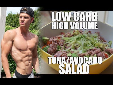 Low Carb Tuna/Avocado Salad For Fat Loss And Muscle Gain