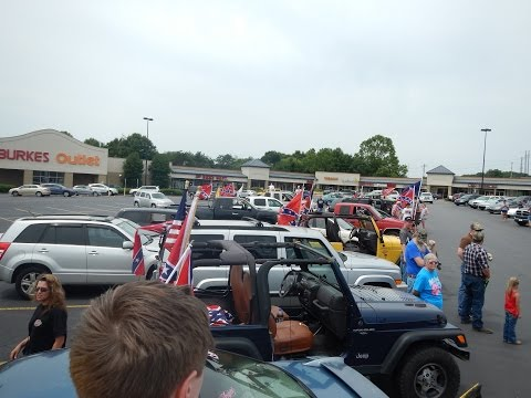 Statesville, NC Confederate Flag Rally Convoy Part 1