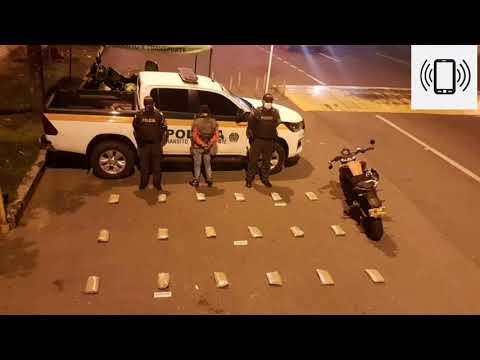 Cerca de Chicoral fue detenido motociclista que transportaba 18 mil dosis de marihuana camufladas
