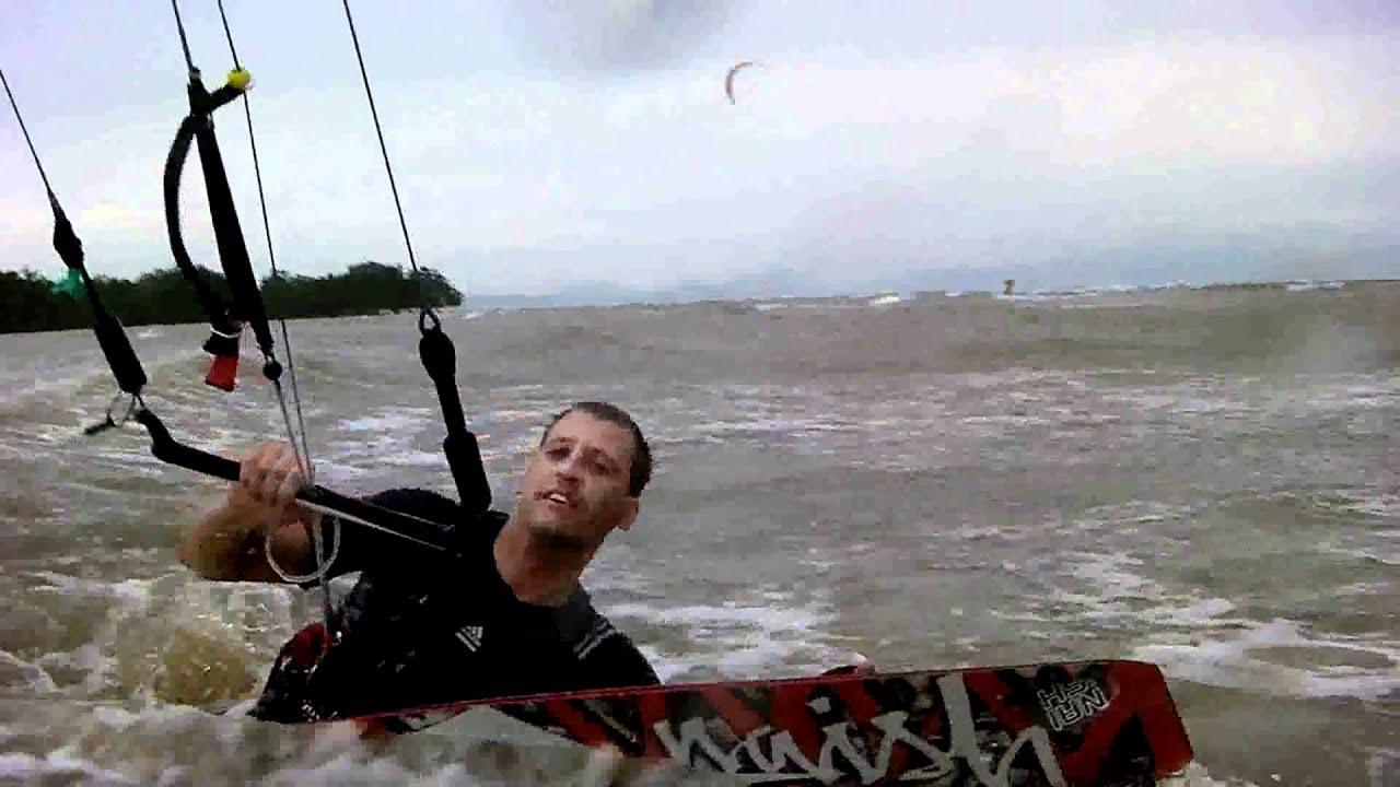 Kiteboarding body dragging tutorial - YouTube