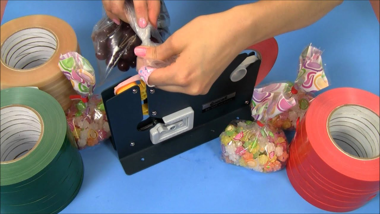 Plastic bag tape sealer