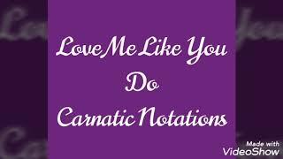 #10 Carnatic Notations Love me like you do | Fifty shades of grey | Veena Cover | Vainika Charumathi