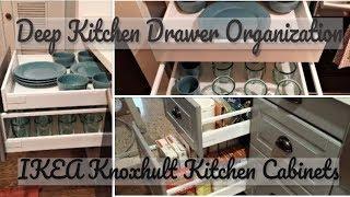 Kitchen Drawer Organization Deep Kitchen Drawer Organization Using Ikea Knoxhult Kitchen Cabinets Youtube