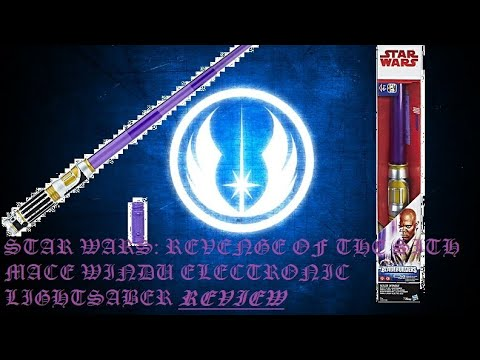 Star Wars Revenge Of The Sith Mace Windu Electronic Lightsaber Review Youtube