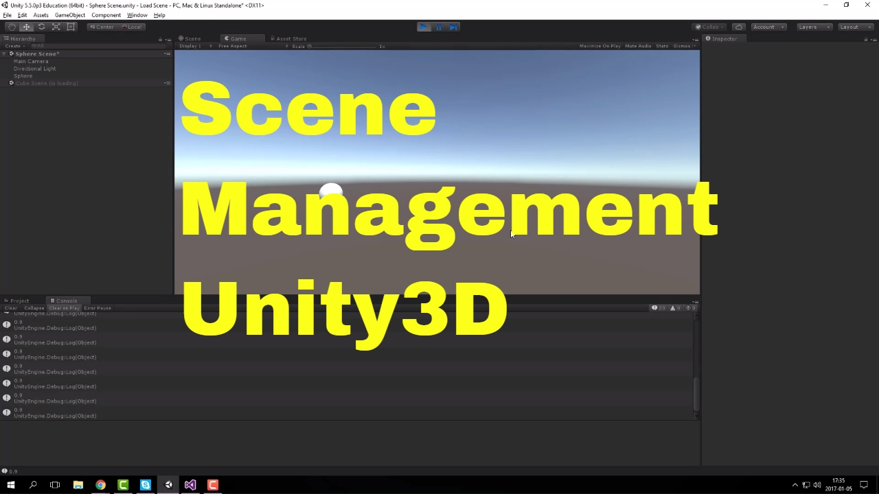 Load Scene and progress bar - Unity [ENG]