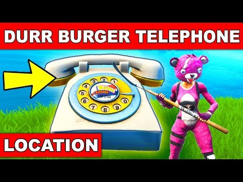 """""""Dial the Durrr Burger Number on the Big Telephone West of Fatal Fields"""" - LOCATION WEEK 8 FORTNITE"""