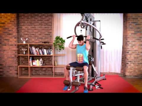 BH Fitness G125 Maxima Multi Gym Exercise & Muscle Demonstration