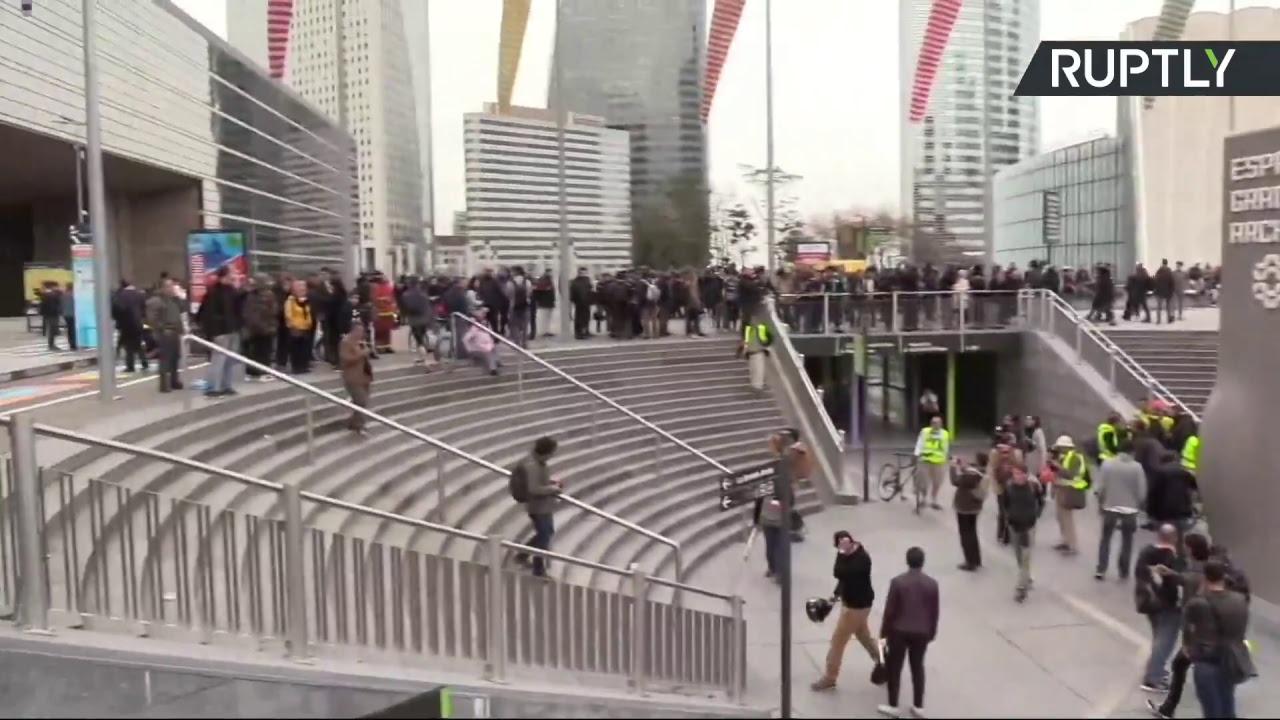 «Жёлтые жилеты» вышли на 21-ю акцию протеста в Париже