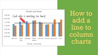 How to add a line to your column chart