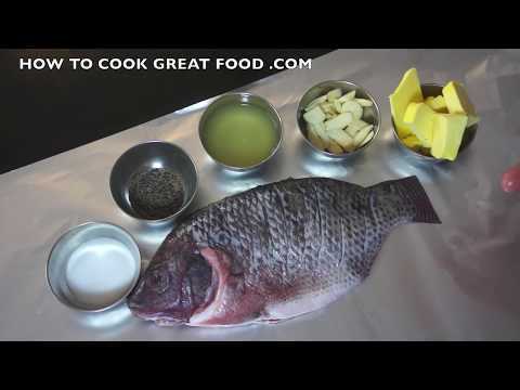 Garlic Lemon Fish Recipe  - Super Easy Tilapia - Whole Fish Recipes - Oven Fish - Foil Fish Baked